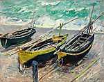 Vincent Van Gogh: Három halászcsónak (1885) (id: 3011) vászonkép