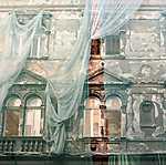 Pesti lakóház függönytakaróval (id: 3511)
