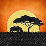 Rhino újrahasznosított papíralapú háttérrel (id: 6211) többrészes vászonkép