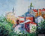 Art Oil Painting Kép Andrew's Descent Kijevben Ukrajnában (id: 10012)