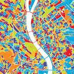 Juan Gris: Budapest színes vektoros térkép (id: 12012) tapéta