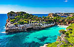 Picturesque seascape on Majorca island, view of the idyllic bay  (id: 13912) tapéta