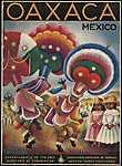 Mexikó, Oaxaca (id: 1612) vászonkép óra