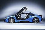 BMW i8 Blue Photo LS (id: 16312) falikép keretezve