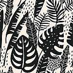 Trópusi levelek 1. (id: 19312) falikép keretezve