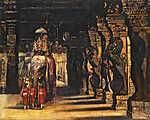 Tornai Gyula: Indiai körmenet elefánttal (id: 19612) tapéta
