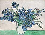 Vincent Van Gogh: Íriszek vázában (1890) (id: 19712) tapéta
