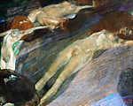 Gustav Klimt: Élő víz (színverzió 1.) (id: 19812) vászonkép