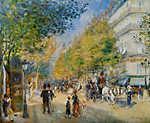 Pierre Auguste Renoir: A Grand Boulevard - színverzió 1. (id: 4012) vászonkép