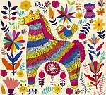 Vector dekoratív ló (id: 4712) poszter