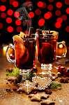 Karácsonyi forralt vörösbor, fűszerekkel és narancs színnel (id: 7112) vászonkép