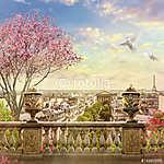 panoráma Párizsban (id: 9312) falikép keretezve