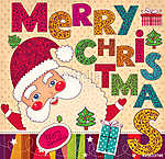 Karácsonyi illusztráció vicces Mikulásmal (id: 11913)