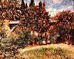 Pierre Auguste Renoir: Vasúti híd Chatou-nál (id: 1413) vászonkép óra