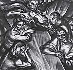 Derkovits Gyula: A hegedülő halál (Mulató társaság) (id: 18613) tapéta