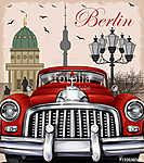 Berlin retro poster. (id: 19213) tapéta