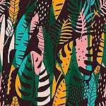 Trópusi levelek 2. (id: 19313) többrészes vászonkép