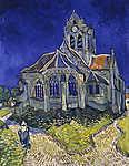 Vincent Van Gogh: A templom Auvers sur Oise-ban (id: 19713) poszter