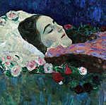 Gustav Klimt: Ria Munk a halálos ágyán (id: 19813) poszter