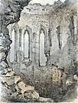 Mednyánszky László: A beckói vár romjai (id: 20013) falikép keretezve