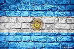 Argentína lobogója (id: 9213) vászonkép óra