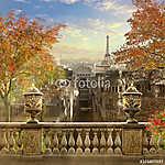 Panoráma Párizs, Franciaország, Montmartre. (id: 9313) vászonkép óra