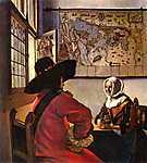 Jan Vermeer: Katona és nevető lány (id: 1014) tapéta