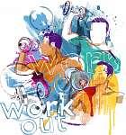 Workout (id: 10314) vászonkép óra