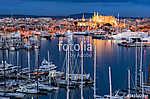 Spanien Palma de Mallorca Stadt Hafen Küste bei Nacht (id: 13914) tapéta