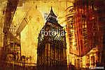 London oil art illustration (id: 15514) többrészes vászonkép