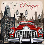 Prague retro poster (id: 19214)
