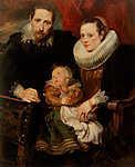 Családi portré (id: 19514) falikép keretezve