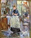 Berthe Morisot: Az ebédlőben (id: 2014) vászonkép