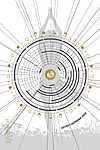 Asztro Naptár 2020. / Yoga-Tree 2:3 (id: 20514) falikép keretezve
