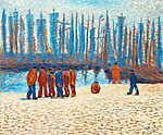 Bretoni jelenet (1910) (id: 4114) falikép keretezve