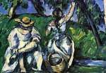 Paul Cézanne: Hölgyek a kertben (id: 414) falikép keretezve