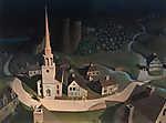 Grant Wood: Paul Revere éjjeli lovaglása (id: 19515) vászonkép óra