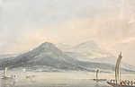 William Turner: Lago Maggiore, Borromei szigetéről nézve (id: 20515) tapéta