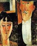 Modigliani: Menyasszony és a vőlegény (id: 20915) falikép keretezve