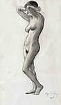 Álló női akt - színverzió 1. (id: 4115) poszter