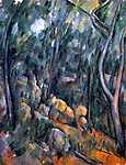 Sziklák az erdőben Chateau Noir környékén (id: 415)
