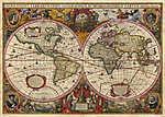 Gustav Klimt: Antik világtérkép (17. század) (id: 12016) vászonkép