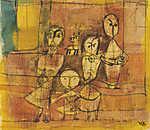 Paul Klee: Kinder und Hund 2. (id: 12116) vászonkép óra