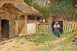 Mednyánszky László: Lány a tanyán (id: 20016) poszter