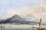 William Turner: Lago Maggiore, Borromei szigetekről nézve (színverzió 1) (id: 20516) vászonkép