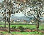 Camille Pissarro: Sydenham közelében (id: 2716) többrészes vászonkép