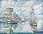 Paul Signac: Barfleur 2. (1931) (id: 3816) falikép keretezve