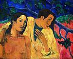 Paul Gauguin: Menekülés (1902) - Színverzió 1. (id: 3916) többrészes vászonkép