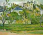 Paul Cézanne: Gyümölcsöskert Pontoisében (id: 416) tapéta