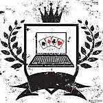 Ász póker (id: 6016) falikép keretezve